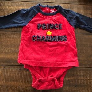 Gap double layer onesie Prince Charming